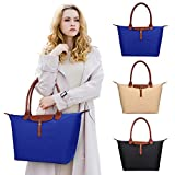 ZTOZ Women's Stylish Waterproof Tote Bag/Nylon Travel Shoulder Handbag/Beach Bags (BLUE)