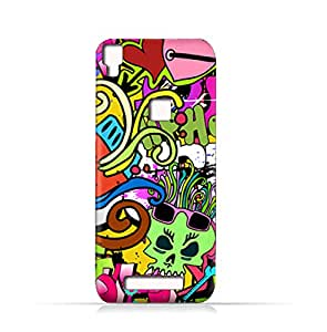 AMC Design Lava Iris Fuel 80 TPU Silicone Case With Graffiti Hip Hop 2 Design - Multi Color