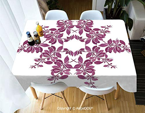 AngelDOU Rectangle Printed Waterproof Tablecloth Autumn Vine Bridal
