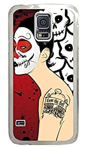 Macabre Madness Clear Hard Case Cover Skin For Samsung Galaxy S5 I9600