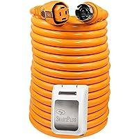 SmartPlug 50 Amp 50 Dual Configuration Cordset w/Marina Twist-Type Connector & 50 Amp Non-Metallic Inlet - White