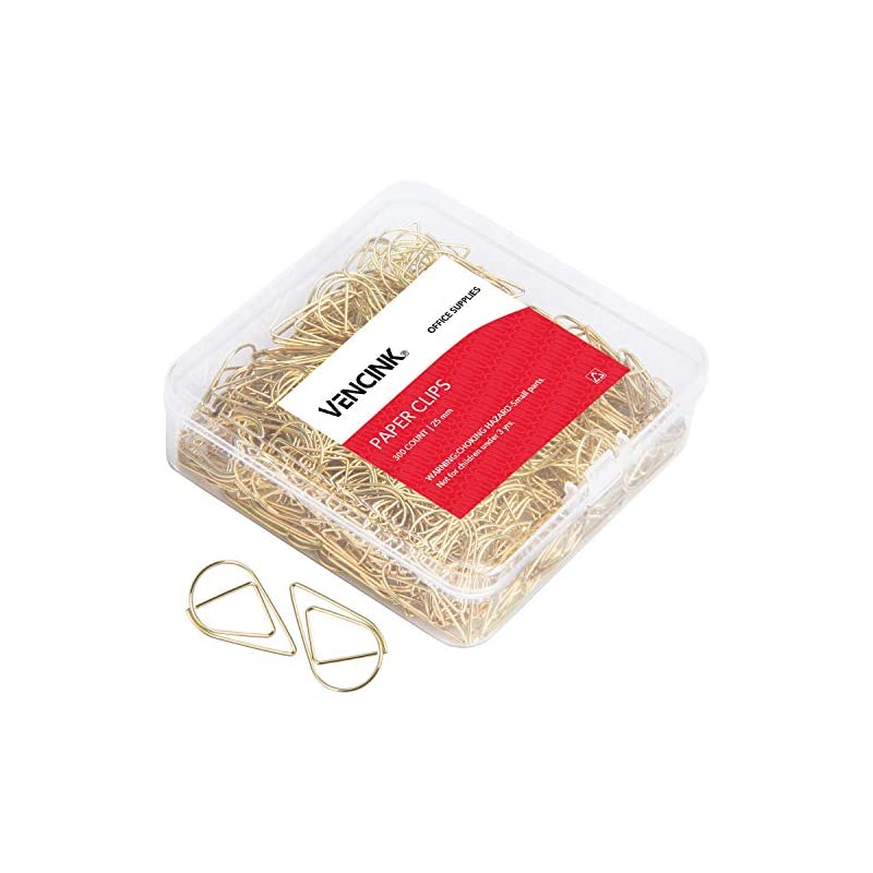 300 Premium Cute Paper Clips Gold Smooth