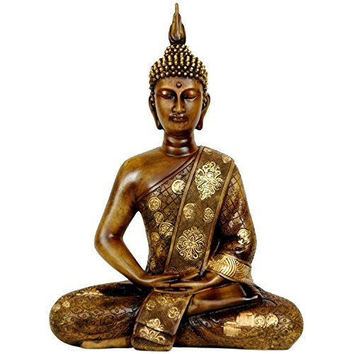 Tibet Buddha Statue Golden Brown 11