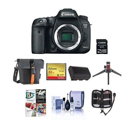 Amazon com : Canon EOS 7D Mark II DSLR Camera Body, with Wi
