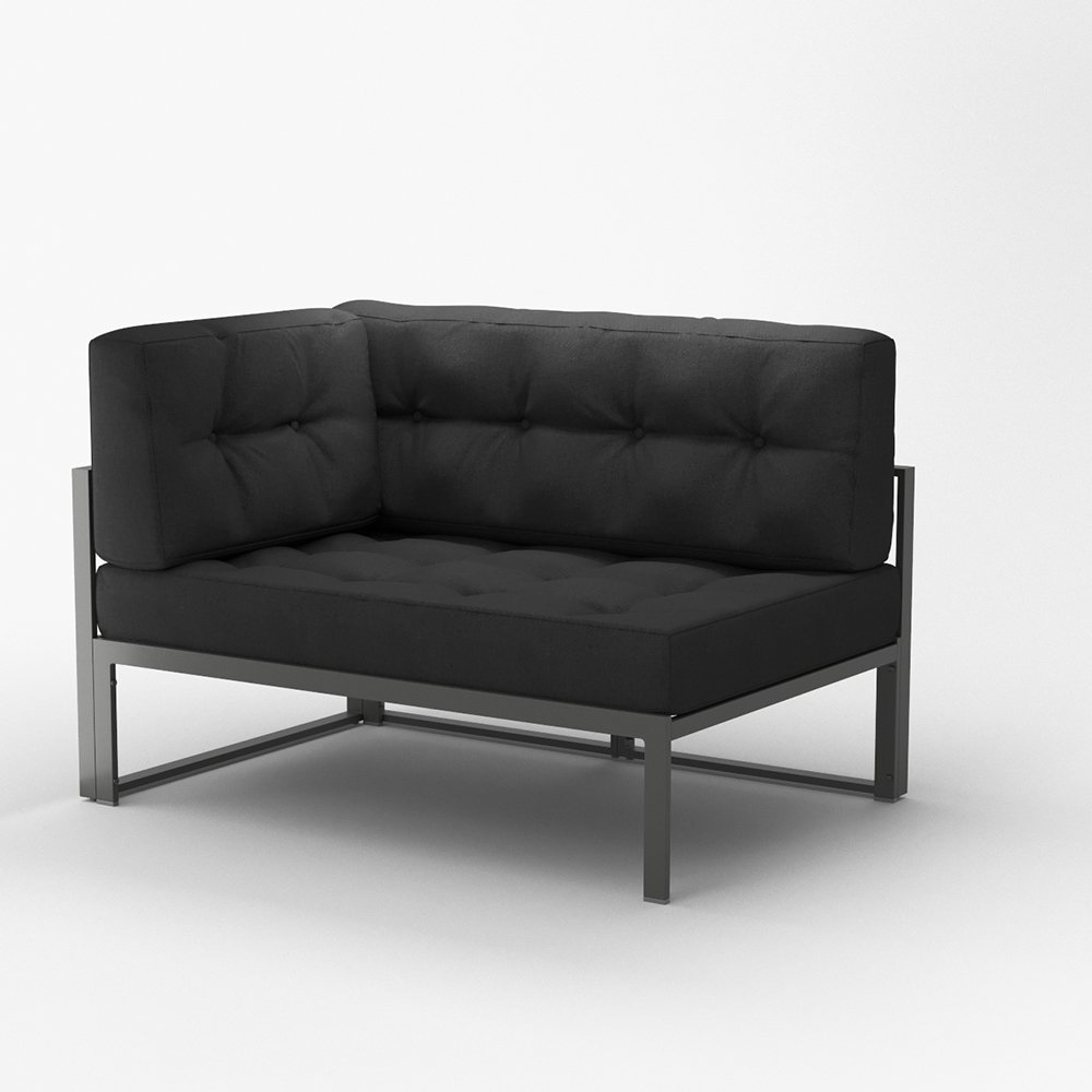 OSKAR Alu Lounge Lounge Lounge Gartenmöbel inkl. Palettenkissen Gartenlounge Sitzgarnitur Sitzgruppe Anthrazit 528a78