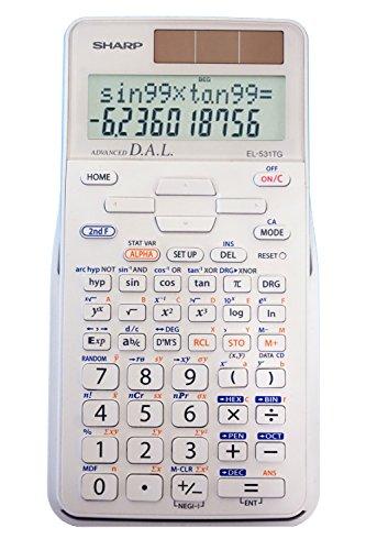 Sharp EL-531TGBBW - Calculadora científica, color negro, EL-531XBDW, Blanco (All White), All White