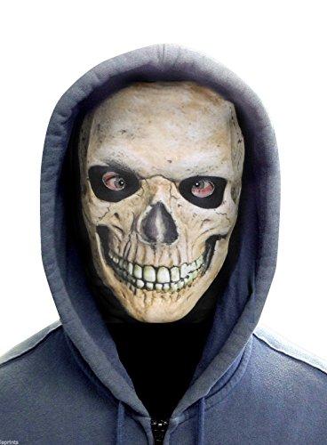 FACE SKINZ - GRINNING SKULL FACE Lycra Face Mask ()
