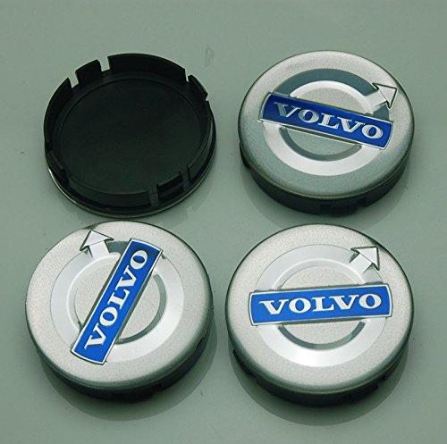 (BENZEE 4pcs W305 64mm Car Emblem Badge Sticker Wheel Hub Caps Centre Cover VOLVO V40 V60 S60 S80 XC60 XC90)
