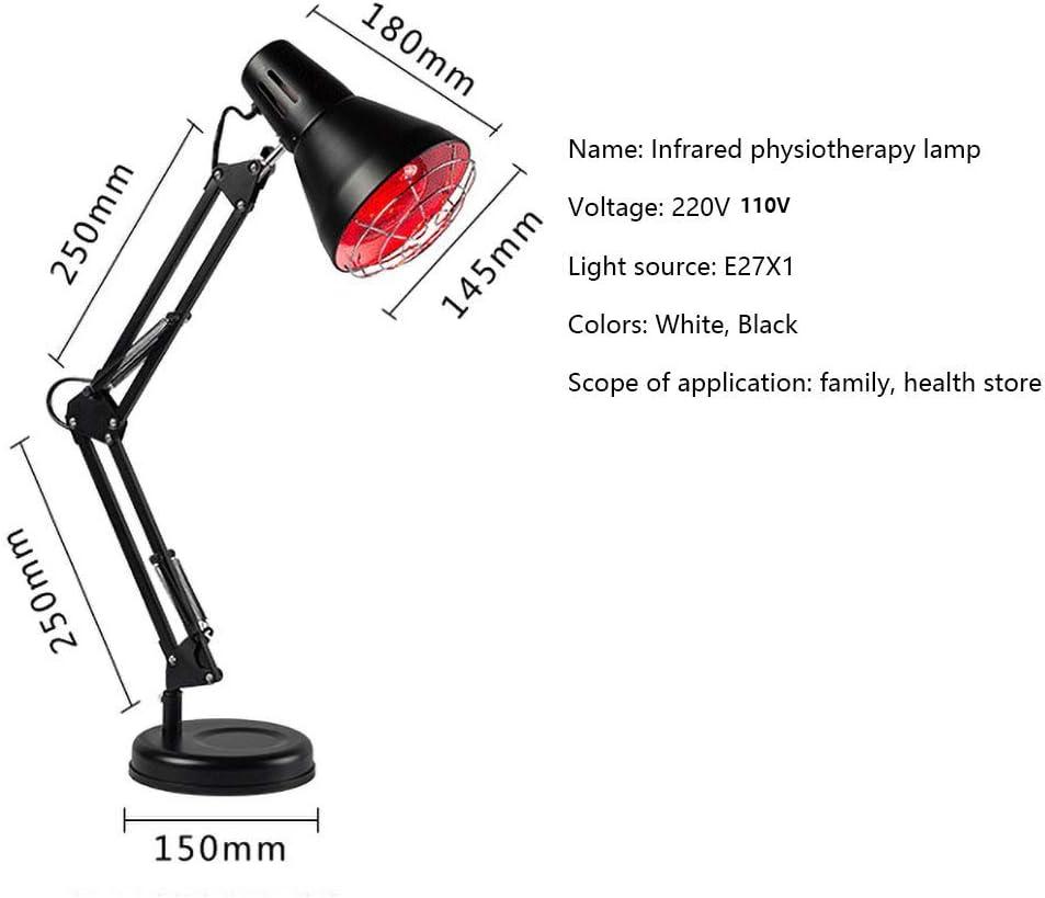RZH Infrarot Physiotherapie Lampe LED Hautpflege Stehleuchte Infrarotlampe 220V//110V Eisen Tischlampen Hyperthermie Lichter Zur Linderung Von Schmerzen,Wei/ß