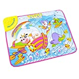 Happy Cherry Educational Music Touch Carpet Toy Gift Cartoon Animal Sea Drifting Musical Playmat Blanket