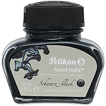 Pelikan Drawing Ink, #518 Black Fount India, 1 Ounce Bottle (221143)