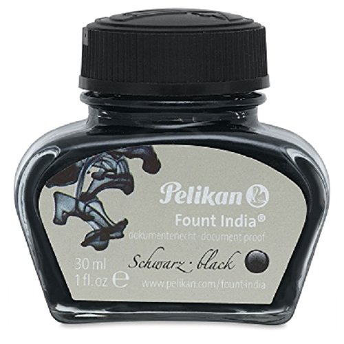 Pelikan Drawing Ink, 518 Black Fount India, 1 Ounce Bottle (221143)