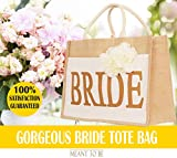 Bridal Shower Gift Bags, Bride Bag - Bride Tribe Tote - 100% Linen and Cotton, Interior Pocket - Wedding Favors - Bridal Shower Gift - Bachelorette Parties - Bride to Be - Bridal Shower Unique Gifts