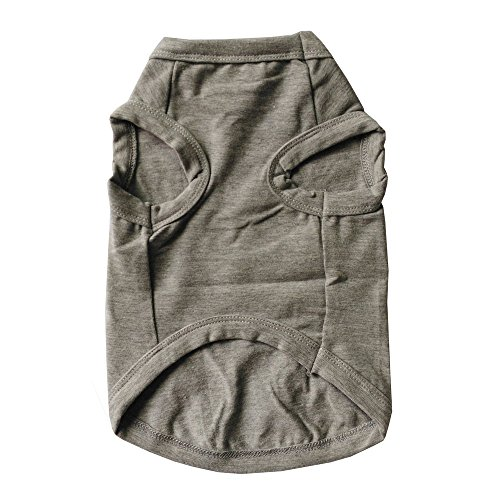 Pet Clothes,Pet Apparel Costumes Small Dog Shirt Cat Summer Shirt Cotton Clothes,Large Size,Grey Daddy