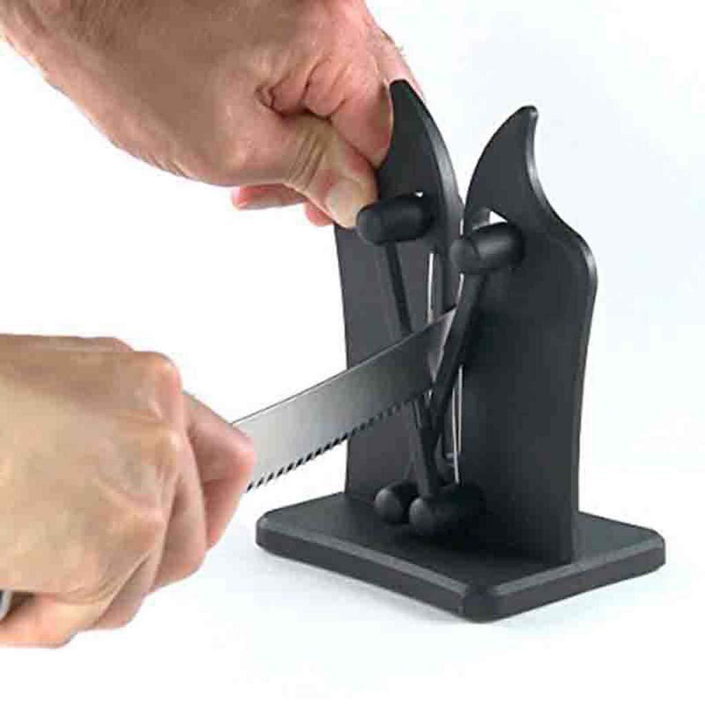 LLDDP-Knife sharpener Manual Knife Sharpener Kitchen Knife Sharpener, Standard Blades, for Professional/Commercial Or Home Kitchen use Sharpening equipment (color : BLACK)