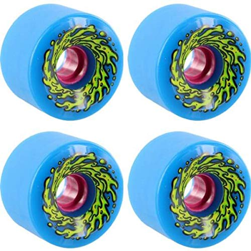 Santa Cruz Skateboards Slimeballs OG Slime Blue Longboard Skateboard Wheels - 66mm 78a (Set of 4)