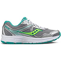 Saucony Women's Cohesion, Grey/Teal/Citron 10 D - Wide