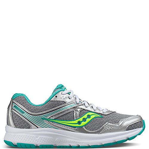 Saucony Women's Cohesion 10 Running Shoe, Grey/Tea/Ct, 6.5 M US