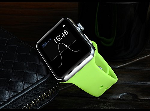 Bluetooth Smart Watch with SIM Card Slot for IOS iPhone, Android Samsung HTC Sony LG Smartphones (Fresh Green)
