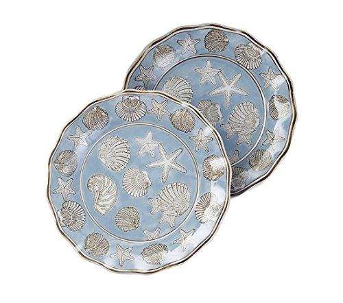 Zeckos 14 1/4 Inch Diameter Seashell Design Round Platter
