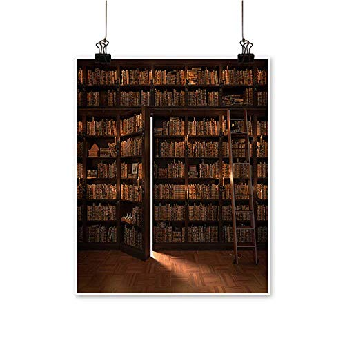 - Wall Artsecret Door in The Bookcase Mysterious Library Light for Hallway Bathroom,20