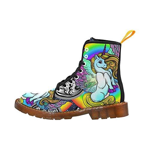 Scarpe Da D-story Unicorno Stringate Martin Boots Per Donna Unicorn1