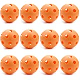 12 Orange Poly Baseballs (Regulation Size) – Training & Practice Balls by Crown Sporting Goods