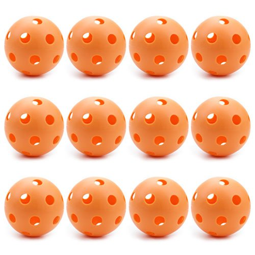 12 Orange Poly Baseballs (Regulation Size) – Training & Practice Balls by Crown Sporting Goods by Crown Sporting Goods
