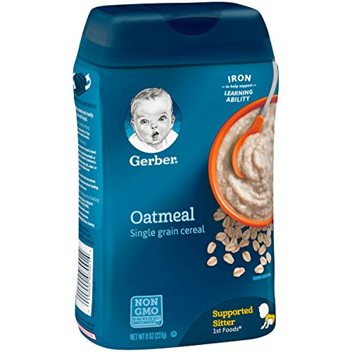 51TZtBw4MDL - Gerber Single-Grain Oatmeal Baby Cereal, 8 Ounces (Pack Of 6)