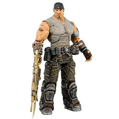 Gears of War 3 Series 3 Journey's End Marcus with Gold Retro Lancer 7 Inch Action Figure: Toys & Games