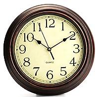 Bekith Round Classic Clock Retro Non Tic...