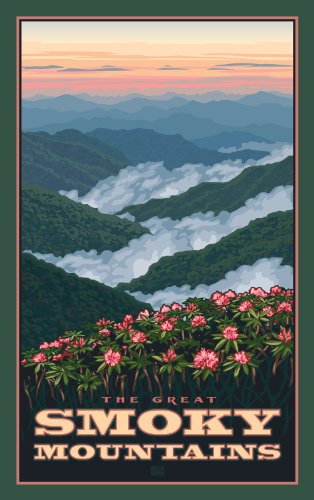 Northwest Art Mall Great Smoky Mountains Rhododendrons in Spring North Carolina Wall Art by Paul Leighton, 11 by ()