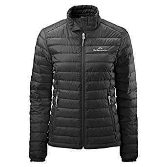 Kathmandu Heli Women's Lightweight Duck Down Coat Warm Puffer Jacket v2 Black 12