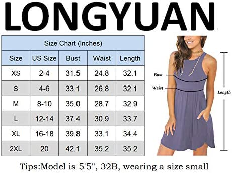 LONGYUAN Women's Summer Casual T Shirt Sundress Swimsuit Cover Ups with Pockets