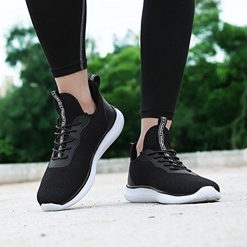 Jogging Baskets Casual Chaussures Sneaker black 2 Sport Course Hommes Gym Athltique Elaphurus Marche zxCqa5Tw