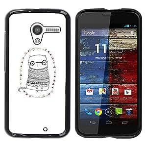 Be Good Phone Accessory // Dura Cáscara cubierta Protectora Caso Carcasa Funda de Protección para Motorola Moto X 1 1st GEN I XT1058 XT1053 XT1052 XT1056 XT1060 XT1055 // Cat Glasse