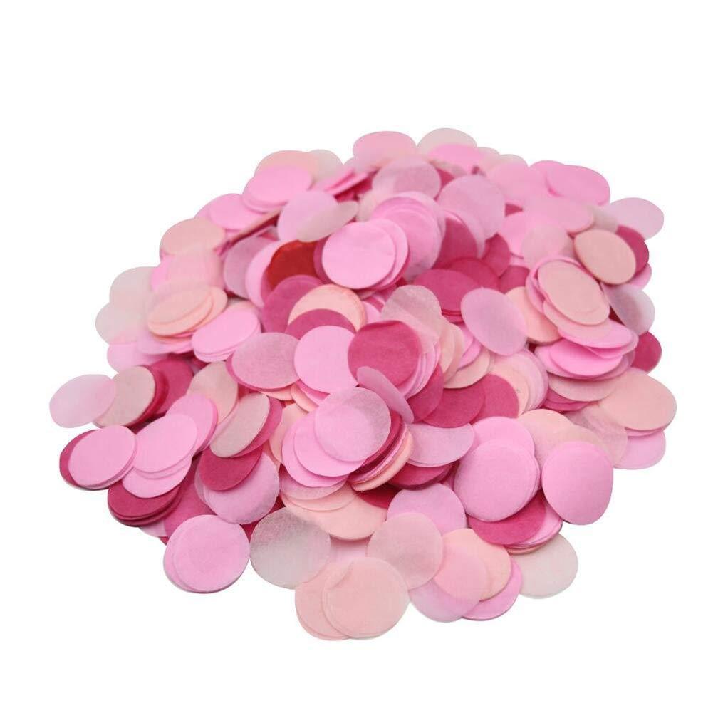 XYtsk 10G 2.5CM Round Tissue Paper Throwing Confetti Balloon Filler Party Wedding Table Supplies Pink