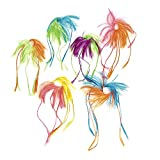 Two Tone Neon Hair Attachments 24 ct