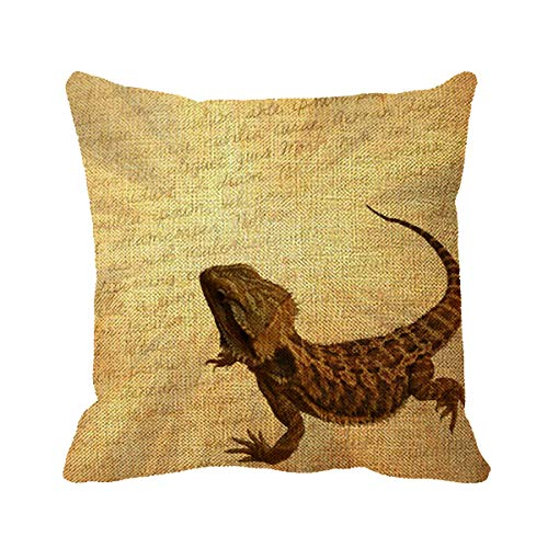 (Goldaisy Lizard on A Letter Throw Pillow Cases 18 x 18inch )