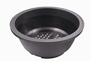 MUZHI 12 Pack Matte Finish Black Round Bonsai Bowl Planter Pot with Drainage, Plastic Garden Low Planter Pots 7.8""