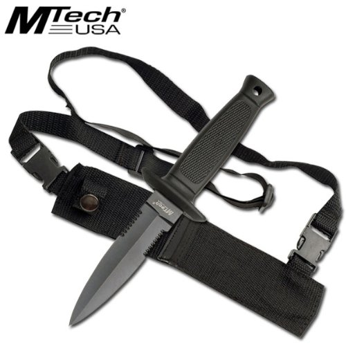 MTech Double Edge Knife with Shoulder Harness Carry