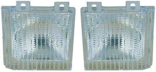 (Go-Parts PAIR/SET OE Replacement for 1983-1986 Chevrolet K10 Suburban Parking Lights Assemblies/Lens Cover - Left & Right (Driver & Passenger) Side For Chevrolet K10 Suburban)