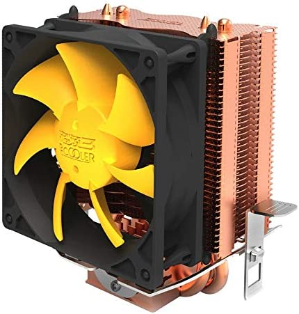 S83 cpu cooler Copper plating fins 2 heatpipes 80mm//8cm silent fan CPU cooling radiator fan for AMD for Intel 775 115 Value-5-Star