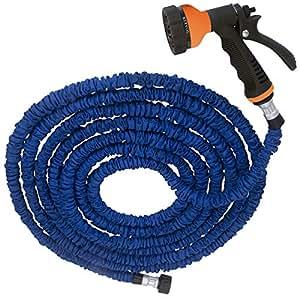 Expandable Garden Hose Including Spray Gun - 50ft (Blue)