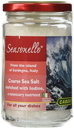 Seasonello Coarse Sea Salt Enriched with Iodine, 10.58 Ounce