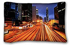 """Generic Personalized City DIY Pillow Cover Size 20""""X30"""" suitable for King-bed"""