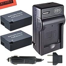 Pack of 2 DMW-BLC12 Batteries and Battery Charger for Panasonic Lumix DMC-G6K DMC-GH2 DMC-G5 DMC-FZ200 Digital Camera