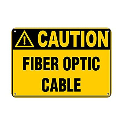 Amazon.com: Tollyee Personalized Metal Signs Caution Fiber ...