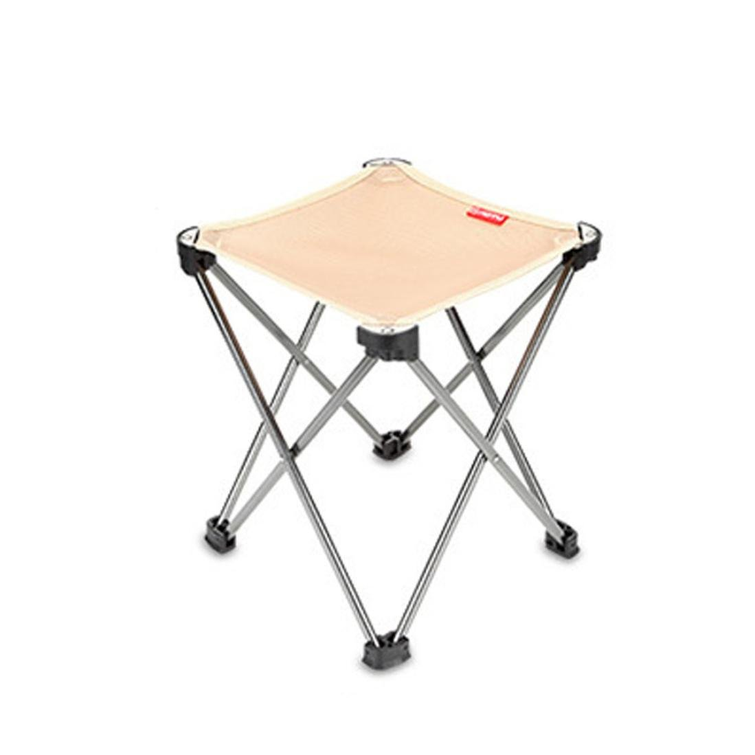 Dingji Aotu Outdoor Folding Fold Aluminum Chair Stool Fishing Camping Seat (Khaki)