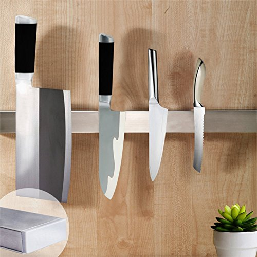 Ouddy 16 Inch Magnetic Knife Holder, Stainless Steel Magnetic Knife Bar, Magnetic Knife Strip, Knife Rack Strip by Ouddy (Image #2)